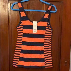 NWT FRENCH CONNECTION FUN STRIPE TANK LARGE